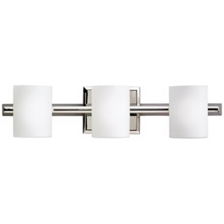 "Kichler Cylinder Polished Nickel 21"" Wide Bathroom Light"