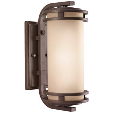 "Kichler Textured Bronze 15"" High Outdoor Wall Light"