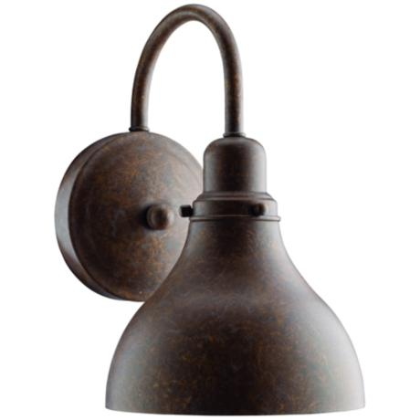 "Kichler Distressed Copper 11"" High CFL Outdoor Wall Light"