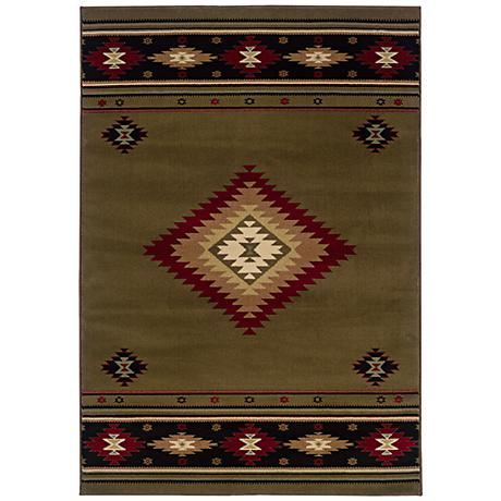 Southwest Brown Area Rug