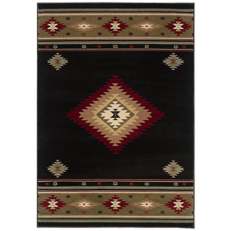 Southwest Dark Area Rug