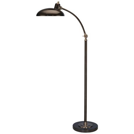 Robert Abbey Bruno Bronze Adjustable Pharmacy Floor Lamp