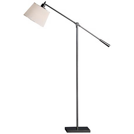 Robert Abbey Real Simple Gunmetal Boom Floor Lamp