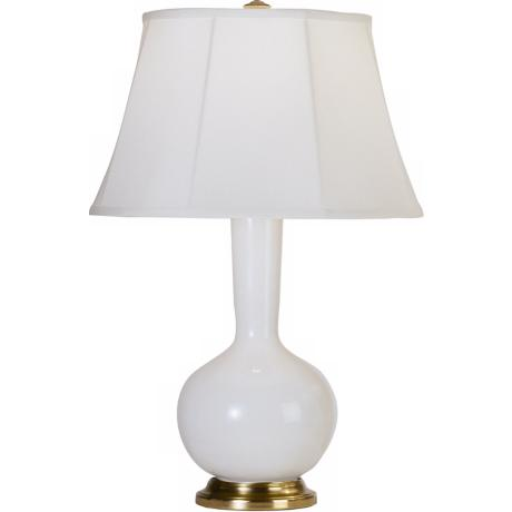 Robert Abbey Genie Brass and Lily White Ceramic Table Lamp