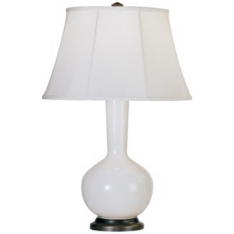 Robert Abbey Genie Bronze and Lily Ceramic Table Lamp