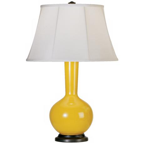 Robert Abbey Genie Bronze and Yellow Ceramic Table Lamp