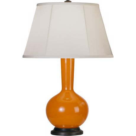 Robert Abbey Genie Bronze and Orange Ceramic Table Lamp