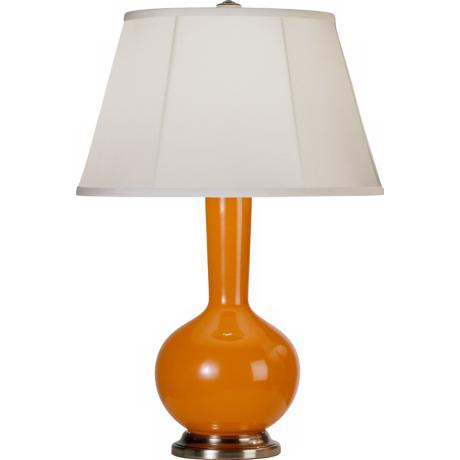 Robert Abbey Genie Silver and Orange Ceramic Table Lamp