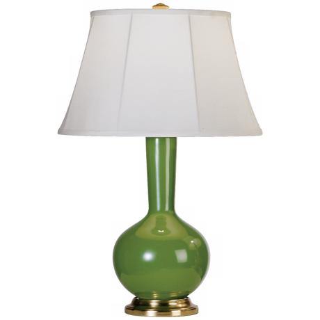 Robert Abbey Genie Brass and Kiwi Green Ceramic Table Lamp