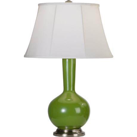 Robert Abbey Genie Silver and Green Ceramic Table Lamp