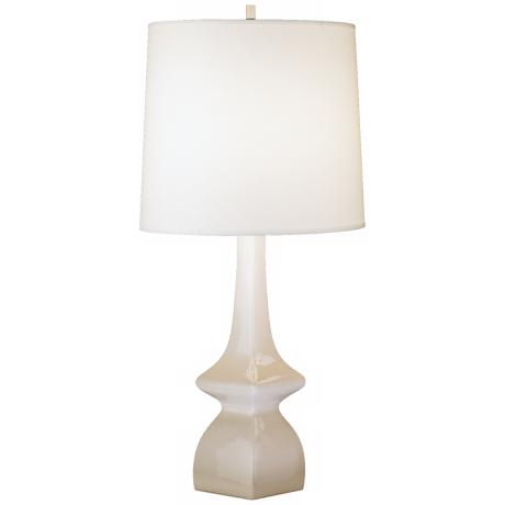 Jayne Oat Beige Glazed Ceramic Table Lamp