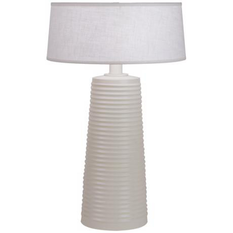 Robert Abbey Fuzo Stardust White Table Lamp