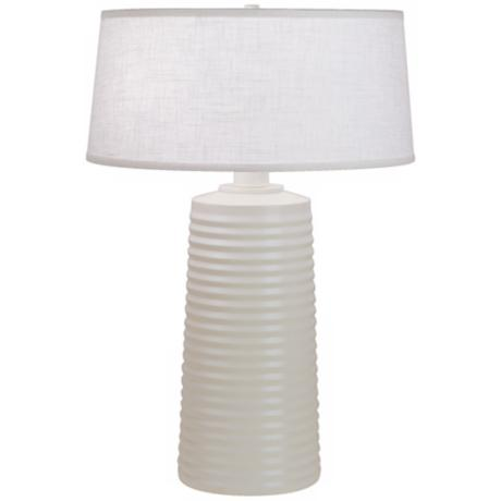 "Robert Abbey Fuzo Stardust White 20"" High Table Lamp"