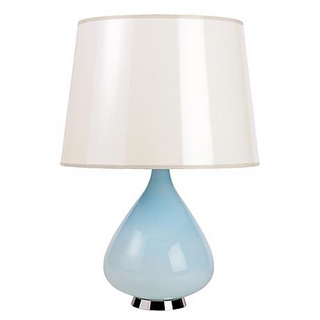 Jonathan Adler Capri Short Blue Glass Table Lamp