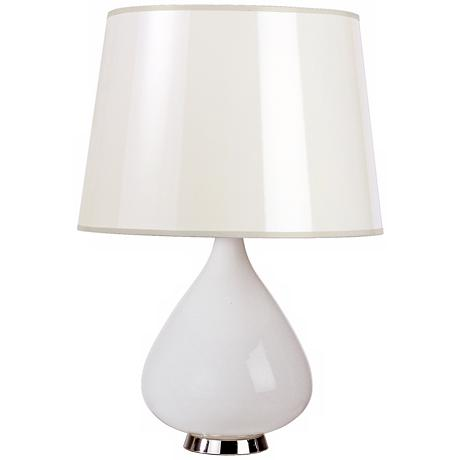Jonathan Adler Capri Short White Glass Table Lamp