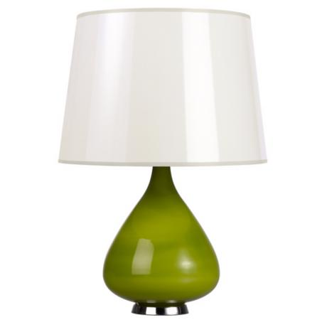 Jonathan Adler Capri Short Green Glass Table Lamp