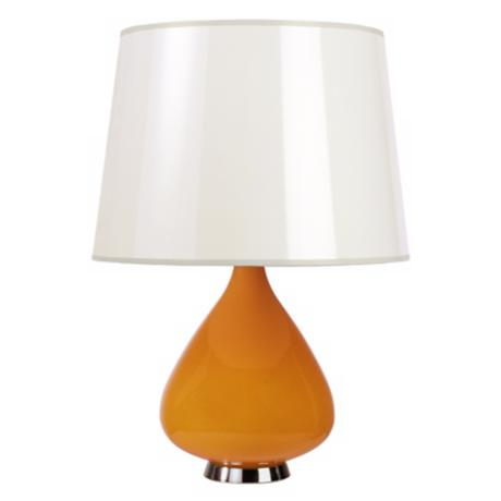 Jonathan Adler Capri Short Orange Glass Table Lamp