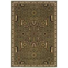 Botanical Traditions Taupe Area Rug