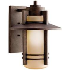 "Kichler Aged Bronze 14 1/2"" High Outdoor Wall Light"