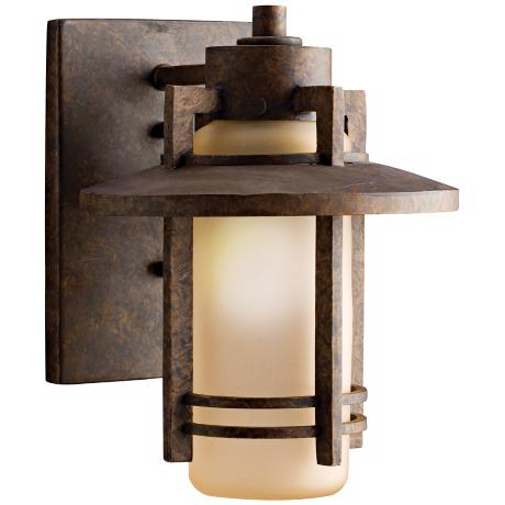"Kichler Aged Bronze 9 1/2"" High Outdoor Wall Light"