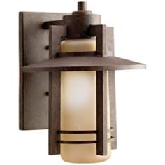 "Kichler Aged Bronze 12"" High Outdoor Wall Light"