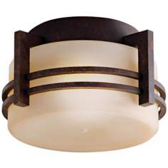 "Kichler Aged Bronze 10 1/2""W Indoor - Outdoor Ceiling Light"