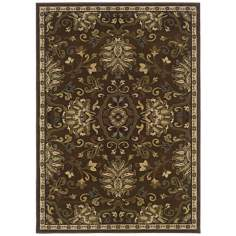 Leafy Artichoke Light Area Rug