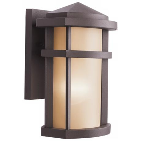 "Kichler Architectural Bronze 10"" High Outdoor Wall Light"
