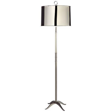 Robert Abbey Porter Polished Nickel Floor Lamp