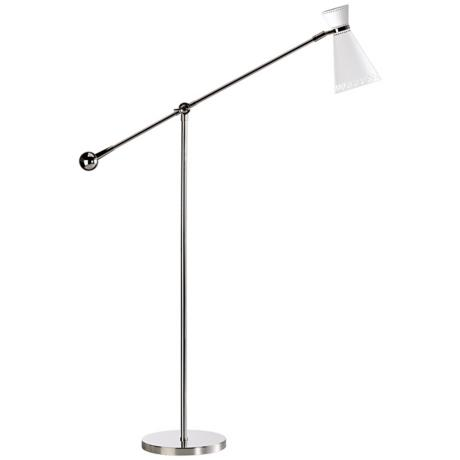 Robert Abbey Havana Polished Nickel Balance Arm Floor Lamp