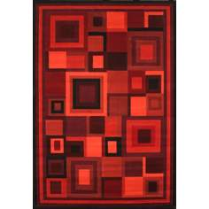 Dark Room Red Area Rug