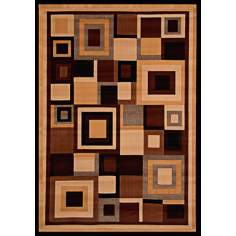 Dark Room Earth Area Rug