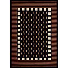 Econox Collection Fortress Brown Area Rug