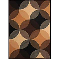 Econox Collection Shadow and Light Brown Area Rug