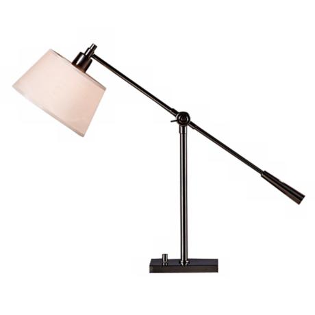 Robert Abbey Real Simple Gunmetal Boom Desk Lamp