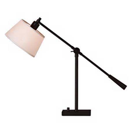 Robert Abbey Real Simple Matte Black Boom Desk Lamp