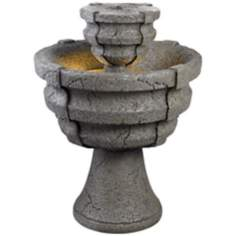 Kenroy Home Lucca Stone Finish Water Fountain