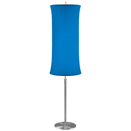 Sonneman Lightweights Series Blue Cylinder Floor Lamp