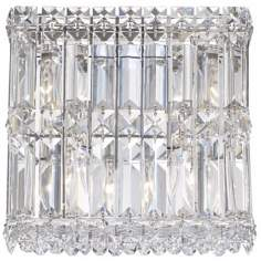 "Schonbek Quantum Spectra Crystal 9"" High Wall Sconce"