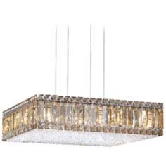 "Schonbek Quantum Box Golden Shadow 20"" W Crystal Chandelier"