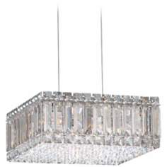 "Schonbek Quantum Box 12"" Wide Strass Crystal Chandelier"