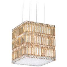 "Schonbek Quantum Block 12"" Golden Shadow Crystal Chandelier"