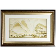 Walt Disney Mulan Mountain Landscape Print Framed Wall Art