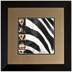 "Disney Dumbo Zebra Print Framed 26"" Square Wall Art"