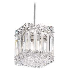 "Schonbek Quantum Collection 4"" Wide Crystal Mini Pendant"