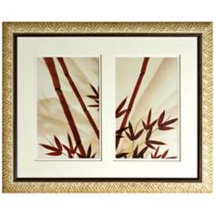 "Walt Disney Mulan Bamboo Shoots Framed 33"" Wide Wall Art"