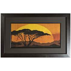 "Walt Disney The Lion King Tree Silhouette 34"" Wide Wall Art"