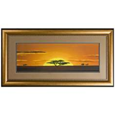 "Walt Disney The Lion King Print Framed 46"" Wide Wall Art"