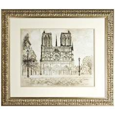"Disney The Aristocats Notre Dame Framed 43"" Wide Wall Art"