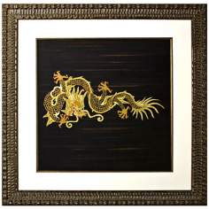 "Disney Mulan Dragon Print Framed 43"" Square Wall Art"